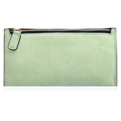 Concise Zip and Candy Color Design Wallet For Women