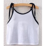 cheap Ethnic Spaghetti Strap Lace-Up Geometric Print Crop Top For Women