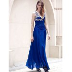Stunning Sleeveless See-Through Maxi Formal Dress for sale