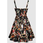 cheap Vintage Spaghetti Straps Printed Ball Gown Dress For Women
