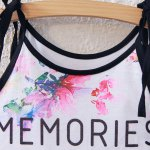 Sweet Spaghetti Strap Lace-Up Floral Print Crop Top For Women deal