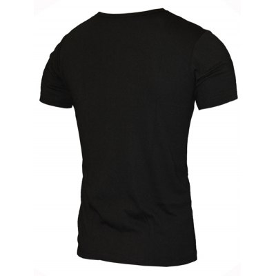 Sunglasses and Letters Print Pattern Round Neck Short Sleeve T-Shirt For Men