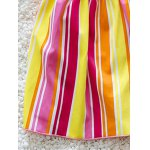best Cute Striped Bowknot Embellished Color Block Girl's One-Piece Swimwear