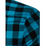 cheap Turn-Down Collar Checked Pattern Short Sleeve Shirt For Men
