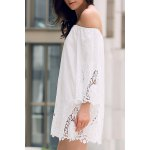 Off-The-Shoulder Lace Trim Dress