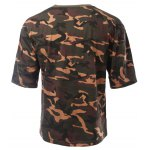 cheap Round Neck Loose-Fitting Camouflage Drop Shoulder Short Sleeve T-Shirt For Men
