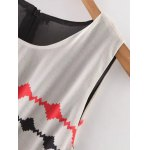 Stylish Round Neck Sleeveless Printed Cut Out Women's Dress deal