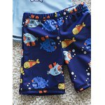 best Stylish Long Sleeve Cartoon Fish Print Sun-Resistant Boy's Swimsuit