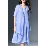 cheap Baggy Linen Dress