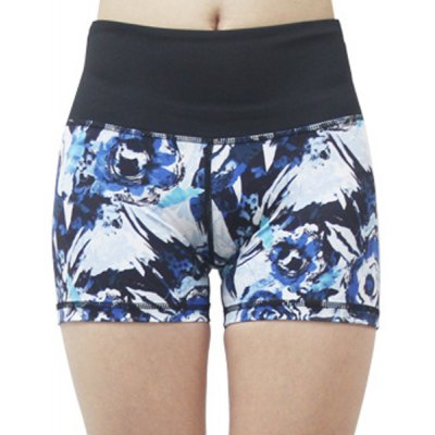 High-Waist Dry-Quickly Printed Shorts