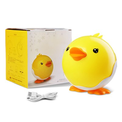 USB Cartoon Little Duck Shape Night Light Touching Switch Bedside LED Lamp