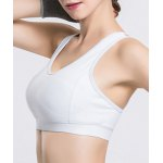 Chic Scoop Neck Hollow Out Solid Color Sports Bra For Women deal