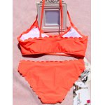 Alluring Pure Color Spaghetti Strap Women's Bikini Set for sale