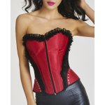 Stylish Ruffled Zipper Design Lace-Up Women's Corset