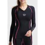 Active Style V-Neck Long Sleeves Skinny Sport Top For Women