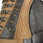 Punk Style Buckle Design Patchwork Stud Embellished Women's Corset for sale