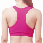 Brief Padded Super-Elastic Solid Color Sport Bra For Women for sale