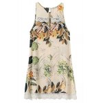 cheap Sweet Sleeveless Lace Embellished Floral Women's Dress