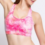 cheap Active Style Printed Padded Sport Bra For Women