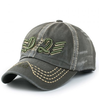 Stylish Letter and Short Stripe Embroidery Baseball Cap For Men