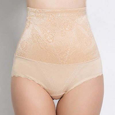 Attractive High-Waist Floral Embroidery Briefs For Women
