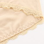 Attractive High-Waist Floral Embroidery Briefs For Women photo