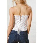 Stylish Slimming Solid Color Floral Bustier For Women deal