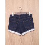 cheap Chic High-Waisted Pocket Design Lace Spliced Women's Shorts