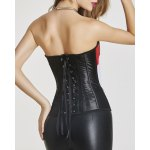 Stylish Zipper Fly Color Block Lace-Up Women's Corset deal