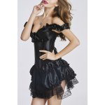 cheap Stylish Off-The-Shoulder Ruffled Flounce Bowknot Women's Bustier