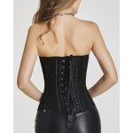 Fashionable Strapless Mesh Design Open Back Women's Bustier deal
