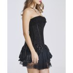cheap Sweet Strapless Jacquard Flounce Ruffled Women's Bustier