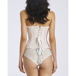 Refreshing Strapless Ruffled Lace Openwork Women's Bustier deal