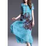 Layered Maxi Floral Printed Dress deal