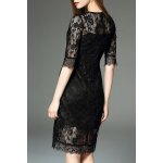 cheap See-Through Embroidered Dress