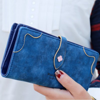 Sweet Letter and Stitching Design Clutch Wallet For Women