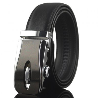 Hollow Out and Ellipse Embellished Automatic Buckle Belt For Men