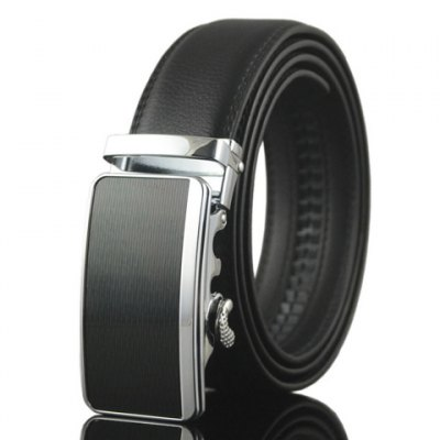 Stylish Simple Automatic Buckle Black Belt For Men