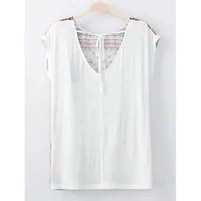Trendy Round Collar Short Sleeves Tribal Pattern Lace-Up T-Shirt For WomenTees<br>Trendy Round Collar Short Sleeves Tribal Pattern Lace-Up T-Shirt For Women<br><br>Material: Cotton Blends,Polyester<br>Clothing Length: Regular<br>Sleeve Length: Short<br>Collar: Round Neck<br>Style: Casual<br>Season: Summer<br>Pattern Type: Others<br>Weight: 0.350kg<br>Package Contents: 1 x Tee
