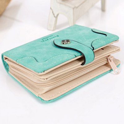 Sweet Letter and Stitching Design Small Wallet For Women