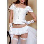 Stylish Square Neck Short Sleeves Corset For Women