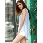 Chic Women's V Neck Lace Spliced Chiffon Tank Top deal