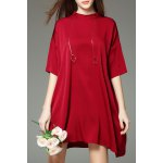Solid Color Mini T-Shirt Dress