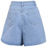cheap Chic Mid-Waisted Pocket Design Loose-Fitting Pure Color Women's Shorts