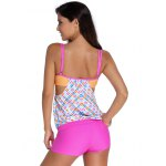 Chic Women's Print Top + Boxers Two Piece Swimwear deal