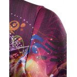 3D Abstract Eye Print Round Neck Galaxy T-Shirt deal