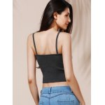 Chic Women's Spaghetti Strap Grey Crop Top for sale