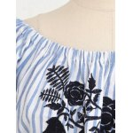 Casual Embroidered Striped Women's Midi Dress deal