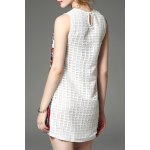cheap Round Collar Embroidered Beaded Dress