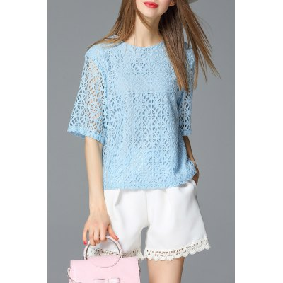 Lace Openwork Top
